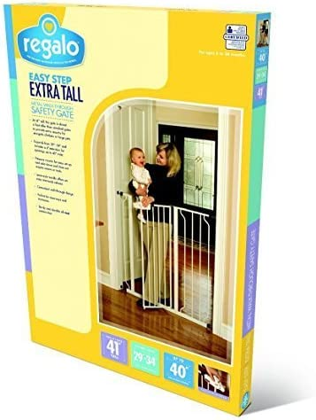 Regalo Easy Step Extra Tall Walk Thru Gate, White Jumbo Size 2-Gate Value Pkg by Regalo [並行輸入品]
