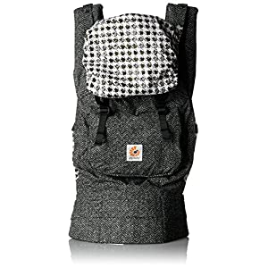 Ergobaby Original Award Winning Ergonomic Multi-Position Baby Carrier with X-Large Storage Pocket, Black Twill