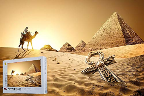 Geekpuz Ancient Egypt Pyramids Camel 1000 Pieces Wooden Jigsaw Puzzles Home Decoration Puzzles