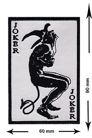 Joker blanco negro parche adulto chaleco Chaqueta divertida ...