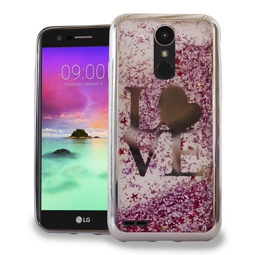 LG Stylo 3 Stylus 3 Stylo 3 Plus Luxury Sparkling CHROME Glitter Motion LOVE SILVER case for Boost Mobile / MetroPCS / Sprint / T-Mobile (Lg Cases Phone Pcs Motion Metro)