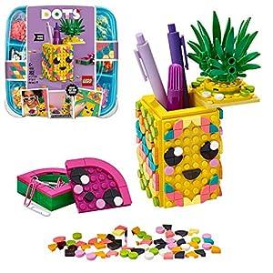 LEGO DOTS AnanasPortapenne, Accessori da Scrivania Fai da Te, Set di Decorazioni DIY, Kit Artistici per Bambini, 41906  LEGO