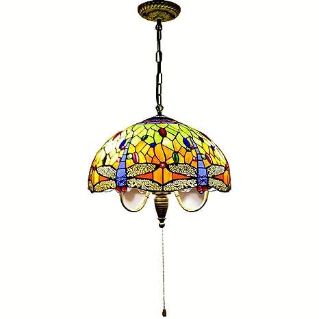 Tiffany Glass comedor lámpara de techo colgante cadena ...