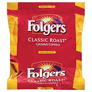 FOLGER'S Classic Roast Coffee Regular Filterpack, 1.5-Ounce Boxes (Pack of 160)