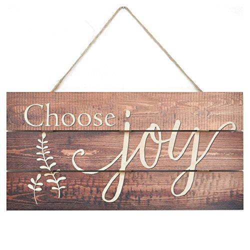 MRC Wood Products Choose Joy Wooden Plank Sign 5x10