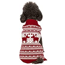 Blueberry Pet 20-Inch Vintage Reindeer Holiday Festive Dog Sweater, XX-Large