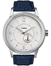 Unisex T Series Classic Automatic Crystal Encrusted White Dial Blue Leather Watch T2N351