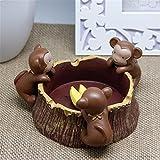 LOSTRYY Animals Ashtray Birds Bunny Monkey Ashtray Resin Living Room Bedroom House Smoking Bell, Monkey