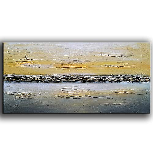 Tyed Art- Abstract Paintings, Oil Paintings Hand Painting 3D Hand-Painted On Canvas Abstract Artwork Art Wood Inside Framed Hanging Wall Decoration Abstract Painting (20x40inch