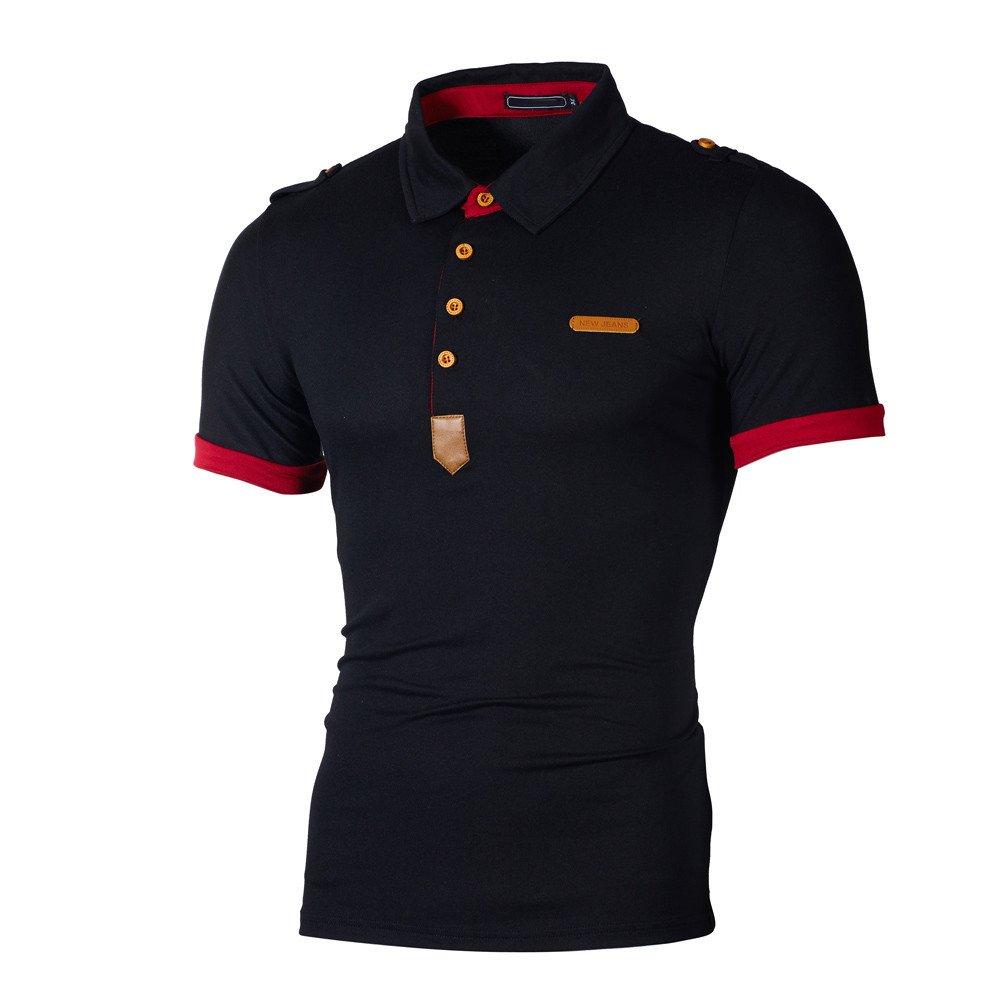 Strungten Herren Poloshirts Kurzarm Slim Fit Sommer T-Shirt Mens Polo Shirts Stretch Kurzarm Polohemd Polo Shirts Basic T-Shirt M/äNner Sport Tank Tops Hemden Sweatshirt
