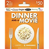 Darden-Fandango Movie & a Meal, Multipack of 2 - $25