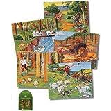 Aesop's Fables Soft Quiet Felt Book w/ Cd- Includes- 5 Page Book, 57 Figures, Cd, Literature