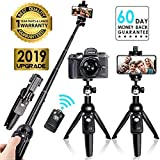 Selfie Stick Tripod Bluetooth,Extendable Flexible Selfie Stick Tripod with Detachable Wireless Remote,Compatible