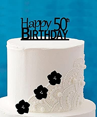 Excellent Happy 50Th Birthday 5 X 4Inch Number Elegant Cake Topper Amazon Birthday Cards Printable Opercafe Filternl