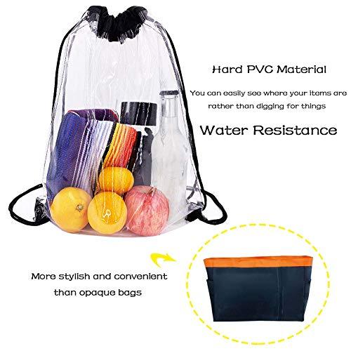 94edaa62e4 Clear Drawstring Backpack - Clear Stadium Drawstring Bag Waterproof Clear Bags  Backpacks 1 Pack