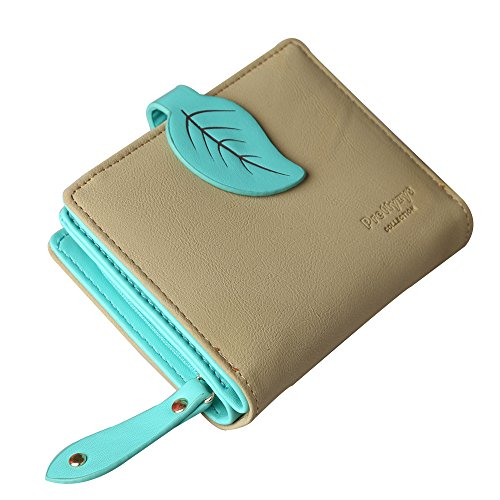 Prettyzys Women Wallet For Girls Leather Short Middle Long Coin Card Holder Purse Clutch (Green Short) (Girl Wallets Clutch)