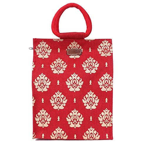 ECOTARA Jute Lunch Bag  Red