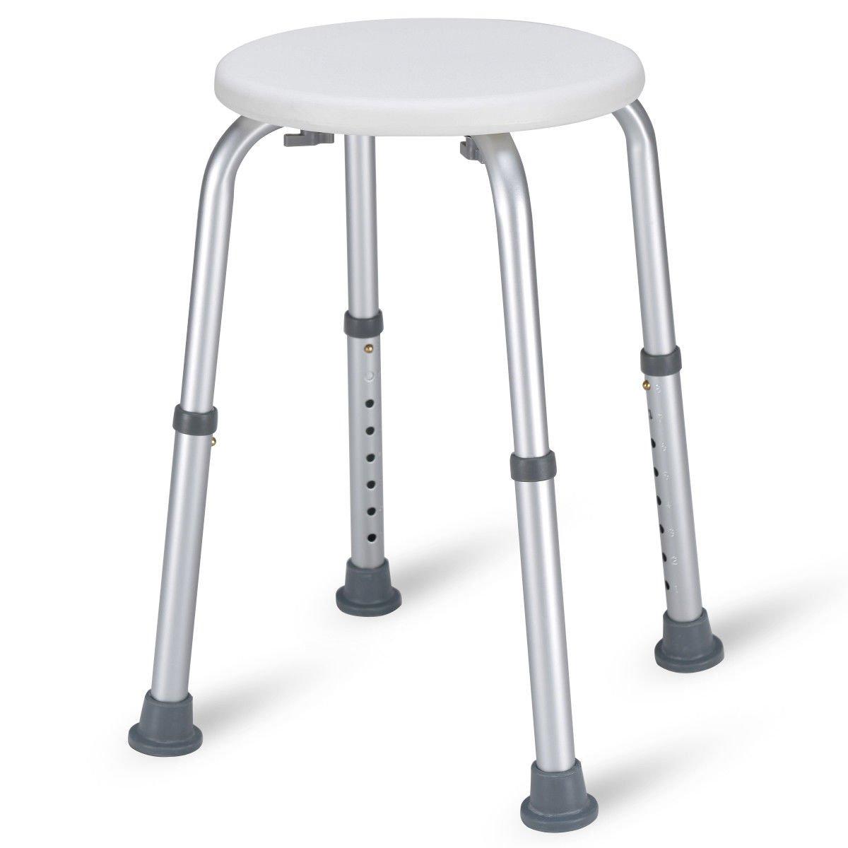 Amazon.com: Caraya 8 Height Adjustable Round Medical Seat Bath Shower Tub  Chair Non-Slip: Health & Personal Care