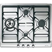 Smeg SR60GHU3 24 Classic Gas Cooktop, 4 Gas Burners, Stainless Steel