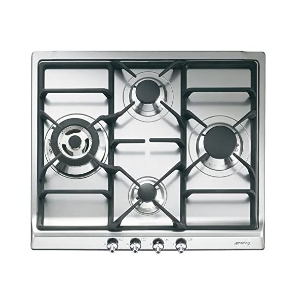 """Smeg SR60GHU3 24"""" Classic Gas Cooktop, 4 Gas Burners, Stainless Steel 1"""