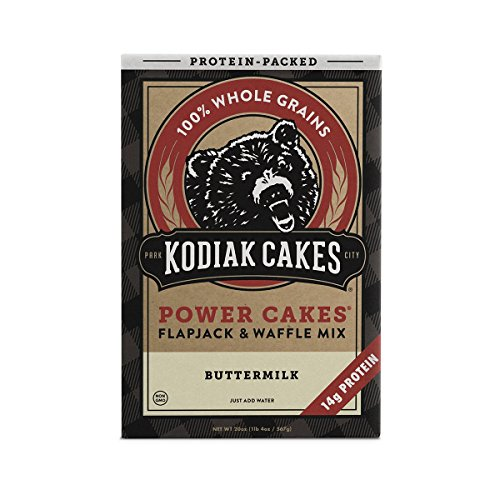 (Kodiak Cakes Protein Pancake Power Cakes, Flapjack and Waffle Baking Mix, Buttermilk, 20 Ounce (packaging may vary))