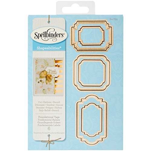 (Spellbinders Foundational Tags Etched/Wafer Thin Dies)