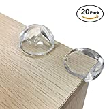 Jamal Corner Protectors Clear Baby Proofing Safety Guards Cushions Keep Child Safe to Avoid Injury for Table, Desk, Furniture and Sharp Edge with 40 Pcs Adhesive (20 Pack)
