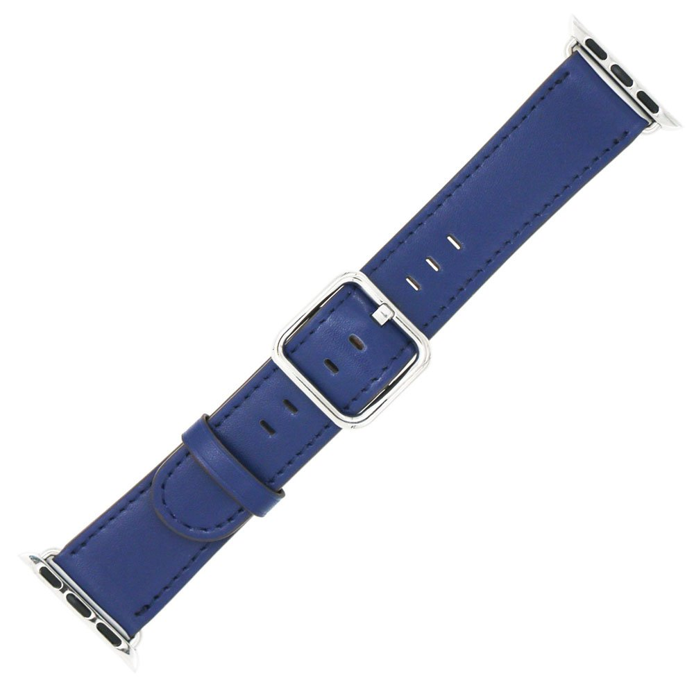 Apple Watch Band 42mm - Genuine Leather iWatch Band Replacement for Apple Watch Series 3/2/1 (Blue)