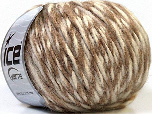 Peru Alpaca Bulky - Camel & Cream #37621 Merino Wool Alpaca Acrylic Blend Yarn 50gr