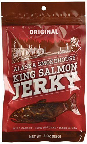 Smoked Salmon Jerky - Alaska Smokehouse Salmon Jerky, 3-Ounce Bag