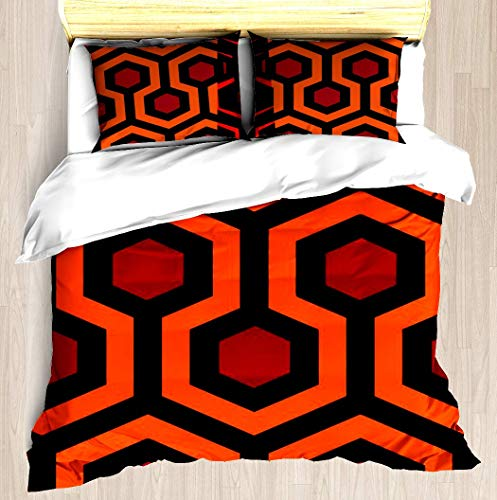 ZOMOY The Shining by Adam Armstrong Duvet Cover Designed Pattern Comforter Bedding Cover Pillow Shams 3 Piece Bed Duvet Cover Twin/XL