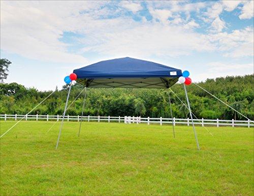 Pop Up Canopy Party Tent with Carry Bag 10x10 Instant Shelter Easy Gazebo Blue (Slant-Leg) (Blue Gazebo)