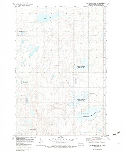 YellowMaps Coldwater Lake NW ND topo map, 1:24000 Scale, 7.5 X 7.5 Minute, Historical, 1982, Updated 1982, 27.1 x 22 in - Polypropylene