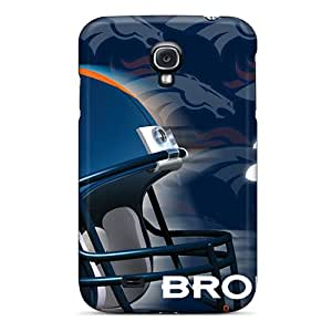 Durable Hard Phone Cases For Samsung Galaxy S4 With Custom Lifelike Denver Broncos Pattern ColtonMorrill