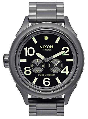 Gunmetal Grey/Lum The October Tide Watch by Nixon