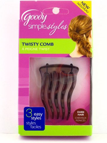 Goody Womens Simple Styles Trendy Twist Comb 1 Pack Dark Hair