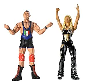 WWE Santino Marella and Beth Phoenix Figures
