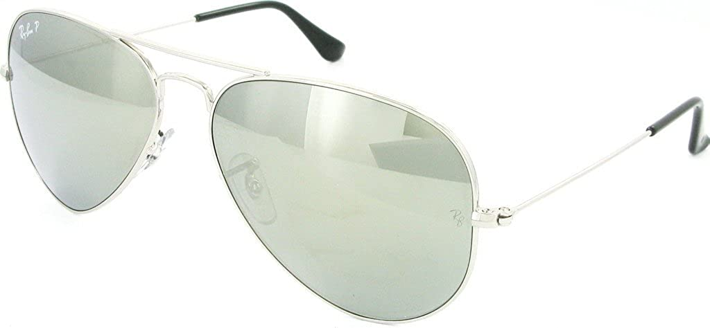 536d5ba316 Amazon.com  Ray Ban RB3025 003 59 58 Silver Polarized Green Mirror Large  Aviator Bundle-2 Items  Shoes