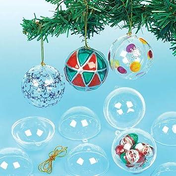 Boule De Noel A Customiser.Boules De Noël Tranparentes à Décorer Lot De 12 Matériel Créatif Pour Enfants Et Adultes