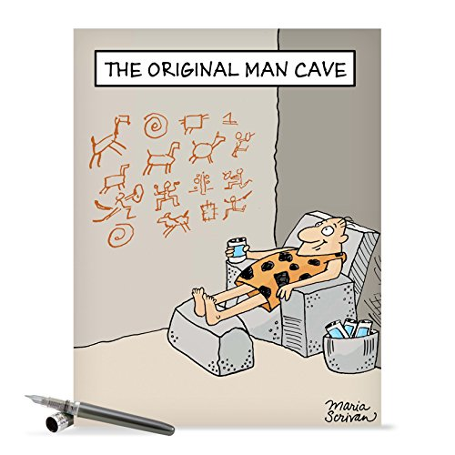 J0259 Jumbo Funny Father's Day Card: Original Man Cave With Envelope (Extra Large Version: 8.5'' x 11'')