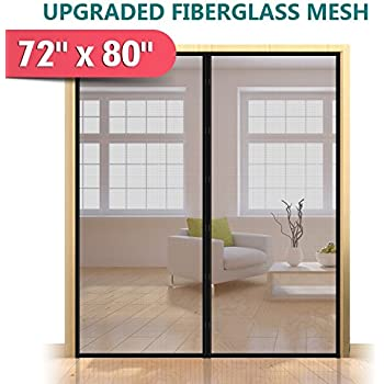 Magnetic screen door for french doors sliding glass doors patio upgraded 72x80 magnetic screen door for french door durable fiberglass mesh curtain planetlyrics Choice Image