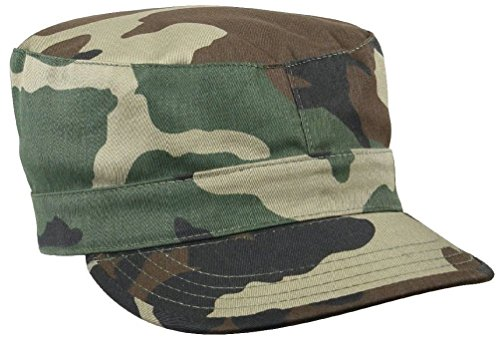 Camouflage & Solids Military Patrol Hat Fatigue Cap Army Navy Air Force Marine