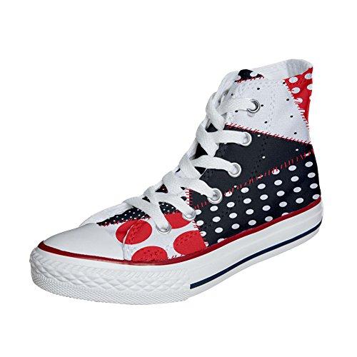 produit Artisanal Star Coutume Sneaker All Texture Personnalisé Et Continuity Imprimés Mys Chaussures Hi Converse Unisex Italien qOgwP