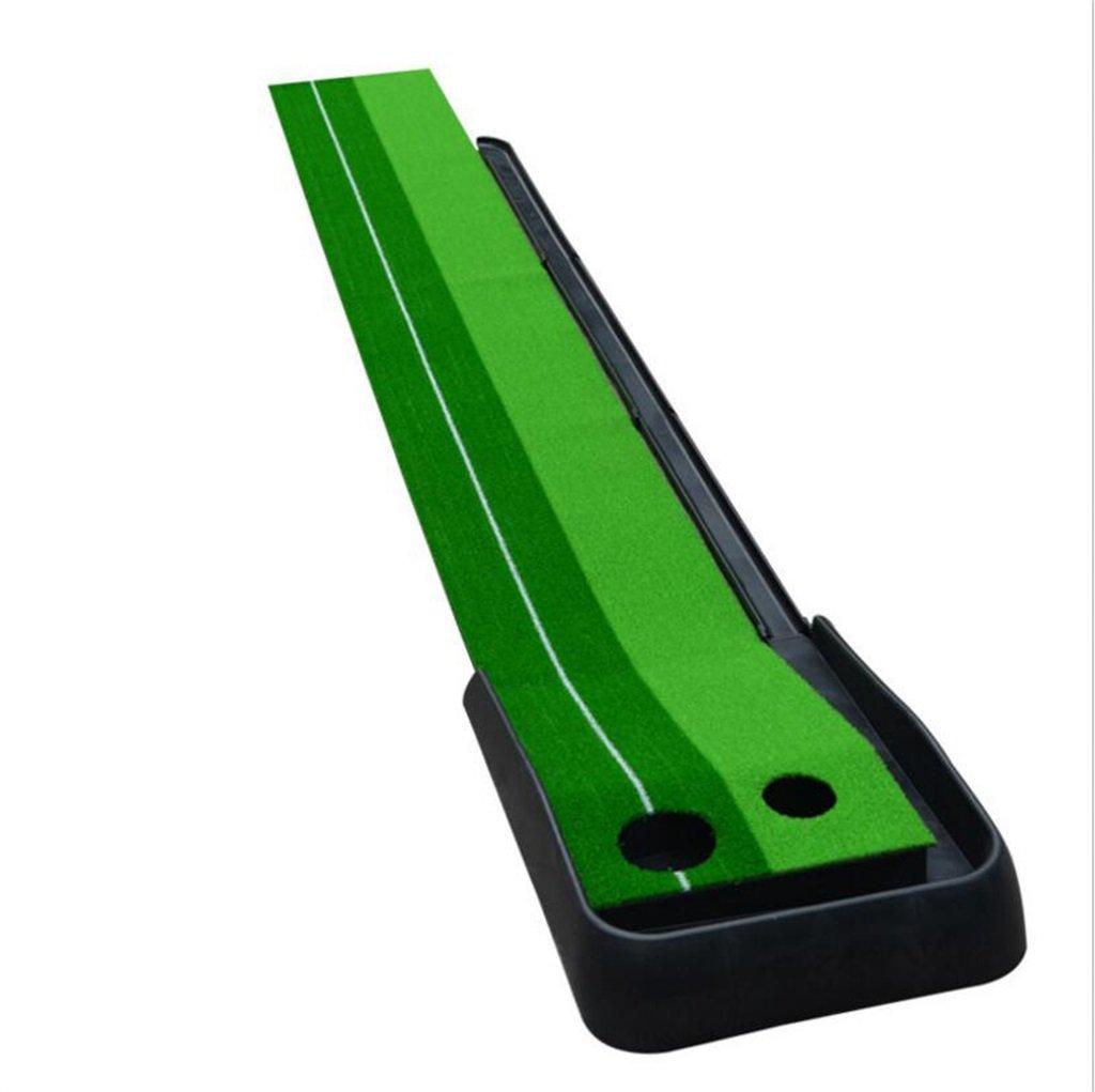 ミニポータブルゴルフスイングマット/ゴルフトレーニングマット/ゴルフフェアウェイマット/ゴルフ練習マット/ゴルフボール付きマルチサイズゴルフフェアウェイマット 300*30cm With rail track B07CY2R4F3