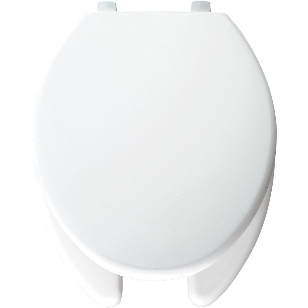 Bemis 7850TJDG 000 JustLift Plastic Elongated Toilet Seat, White