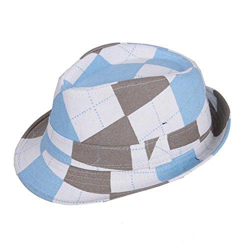 Unisex Chic Dance Kids Jazz Hats Caps Sun Hats T2-145 (soft blue)