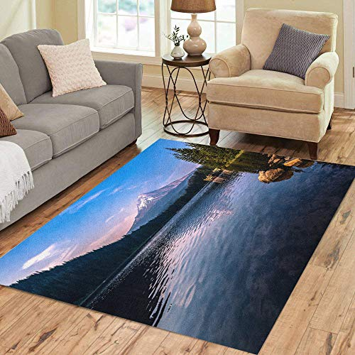 Pinbeam Area Rug Blue Trillium Mountain Reflections from The Lake America Home Decor Floor Rug 2