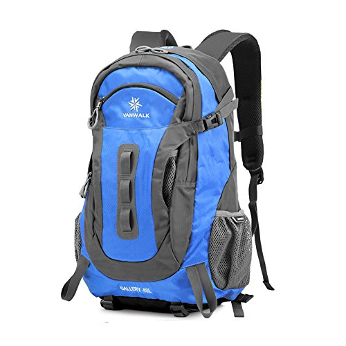 Outdoor peak Unisex Nylon wasserabweisend handlich Ultrasport Wanderrucksack taktisch gute Gasdurchlaessigkeit Radfahrrad Trekkingrucksack Reisetasche Camping 40Liter(Blau)