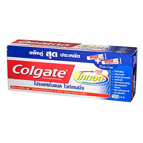 (Colgate, Toothpaste, Total, Professional Whitening, 150 g (Pack of 2)