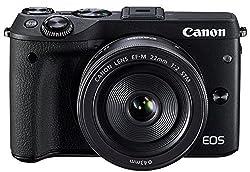 Canon Eos M3 With 22mm F2.0 Prime Stm Lens (Black) - International Version (No Warranty)
